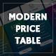 Modern price table