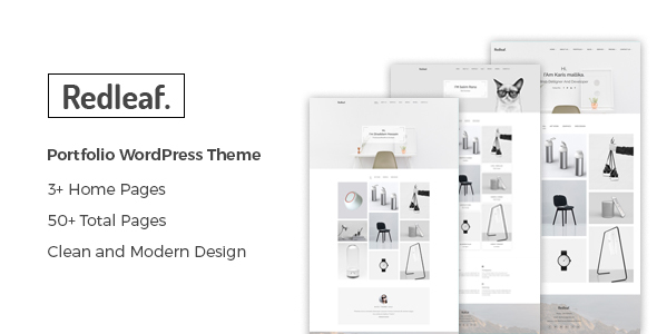 Image of Redleaf - Minimal Portfolio WordPress Theme