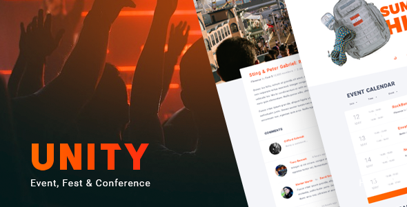 Unity – Event, Fest & Conference WordPress theme - Events Entertainment