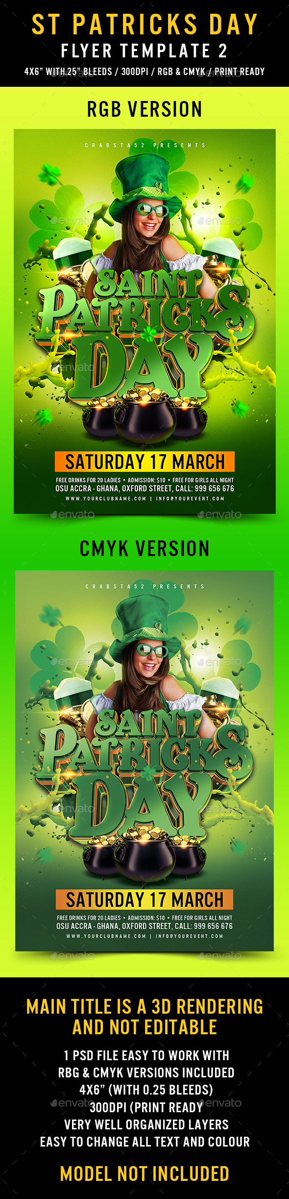 St Patricks Flyer Template 2 - Events Flyers