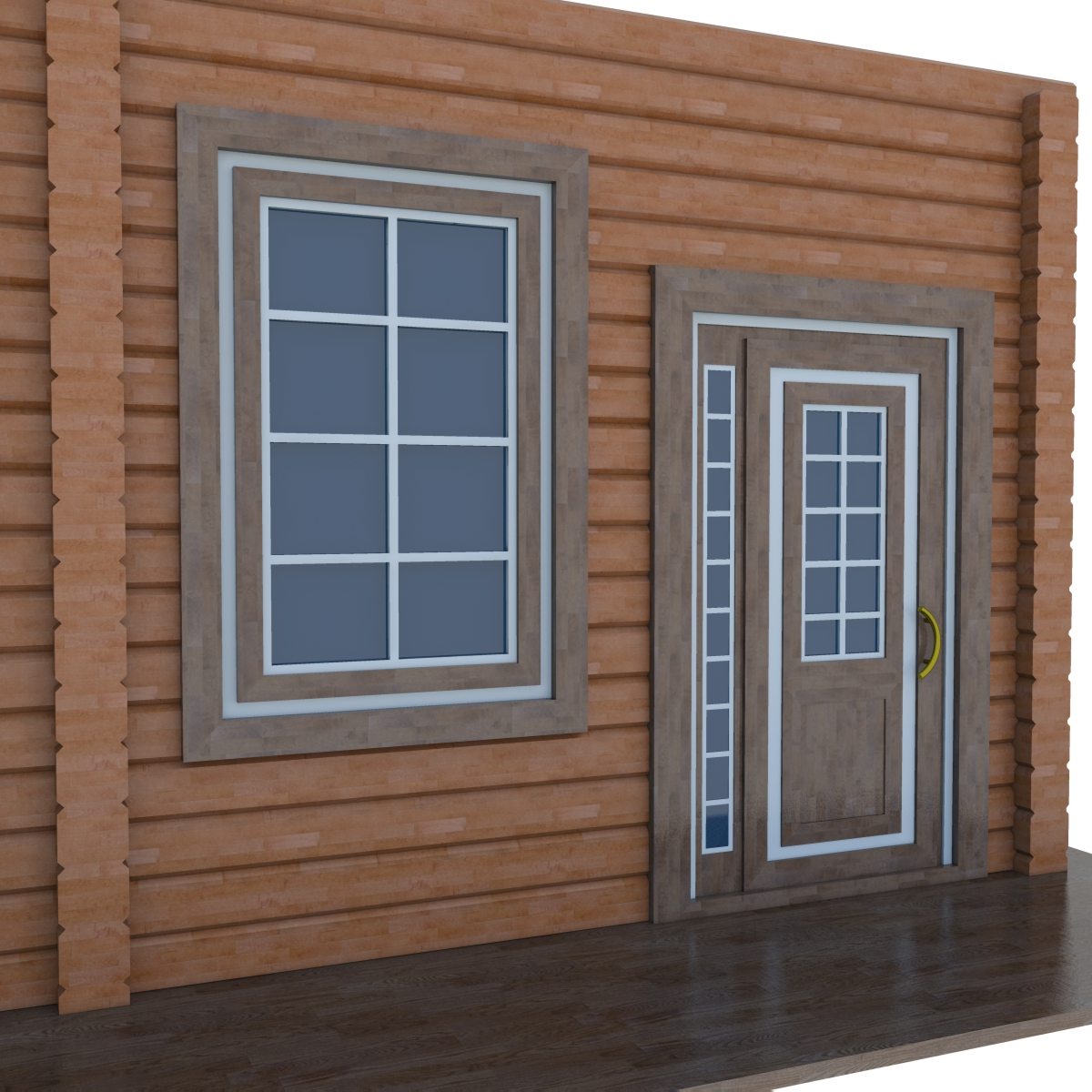 Model of wooden windows and doors two colors by sam 72 for Wooden doors and windows