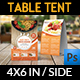 Restaurant Table Tent Template Vol.15 - GraphicRiver Item for Sale