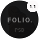 FOLIO. - Onepage Personal PSD Template - ThemeForest Item for Sale