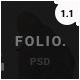 FOLIO. - Onepage Personal PSD Template