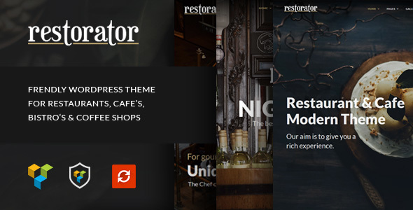 Restorator – Restaurant & Cafe WordPress Theme