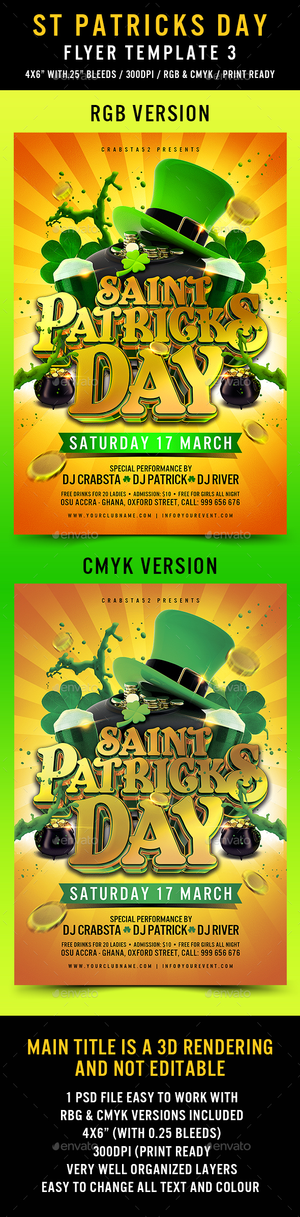 St Patricks Day Flyer Template 3 - Flyers Print Templates