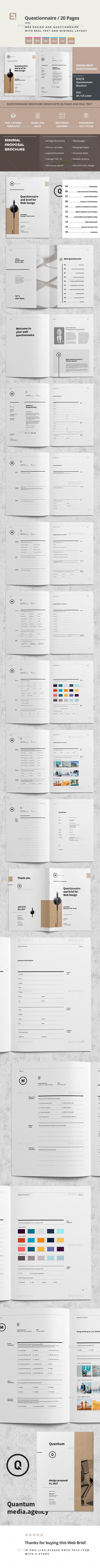 Questionnaire Web Design - Informational Brochures