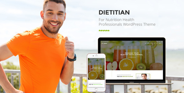 Dietitian - Nutrition Health professionals WP Theme - Health & Beauty Retail