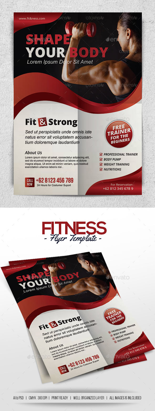 Fitness - Corporate Flyers