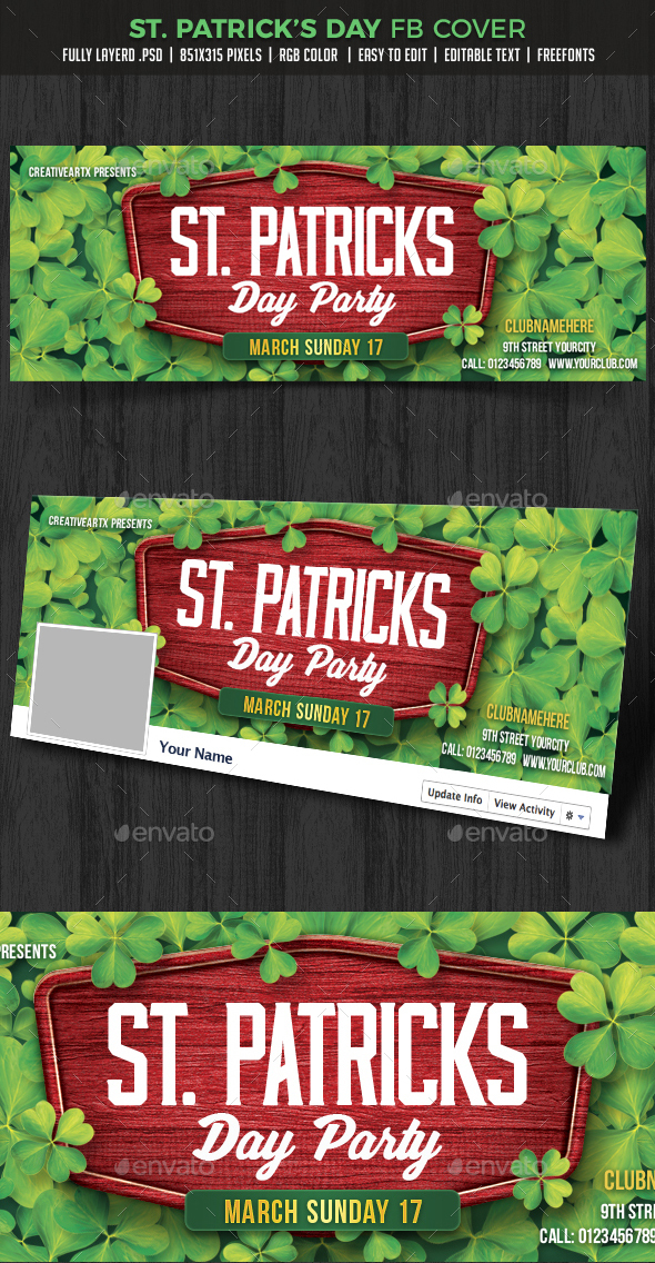 St. Patrick's Day FB cover - Facebook Timeline Covers Social Media