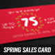 Spring Sales Card 2 - GraphicRiver Item for Sale