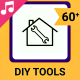 DIY Tools Icons and Elements