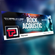Rock Acoustic Facebook Cover Template - GraphicRiver Item for Sale