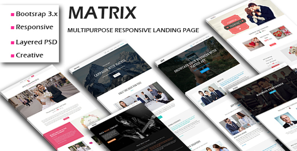 MATRIX - Multipurpose Responsive HTML Landing Pages