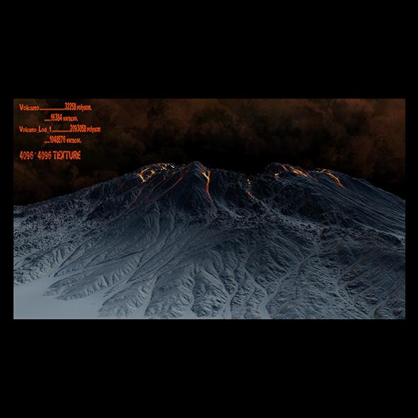 volcano - 3DOcean Item for Sale