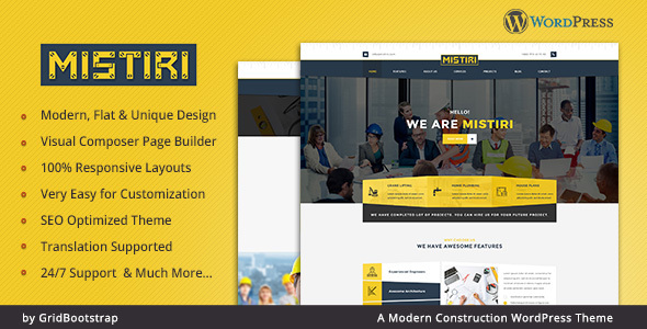 Mistiri - Construction Company Theme - Business Corporate