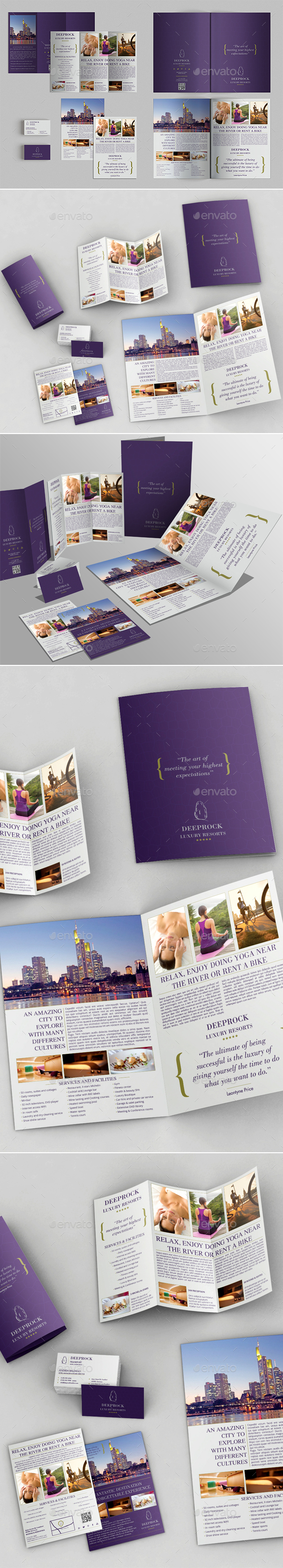 Bifold Brochure + Trifold + Flyer + BC Templates - Brochures Print Templates