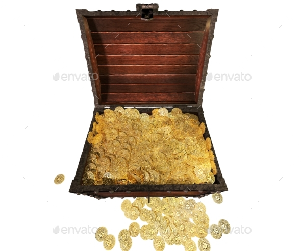Pirate Treasure Chest. 3D Render. - Objects 3D Renders