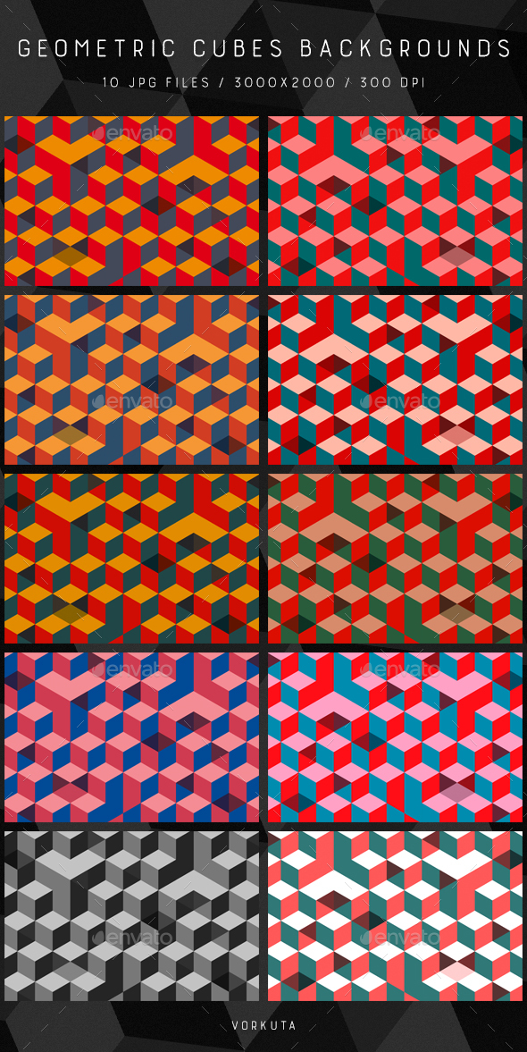 Geometric Cubes | Backgrounds - Backgrounds Graphics