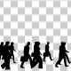 Business People Silhouettes Walking - VideoHive Item for Sale