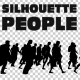 Silhouettes of People Walking