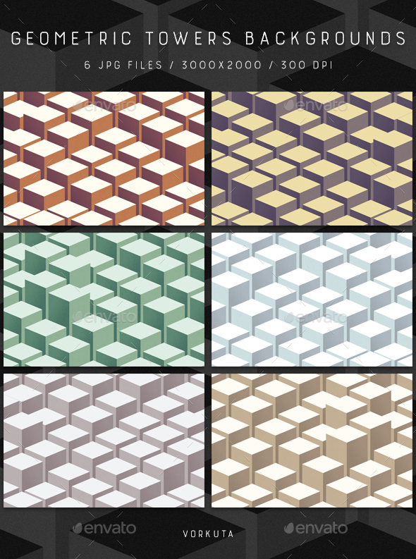 Geometric Towers | Backgrounds - Backgrounds Graphics