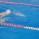Swimmer Athlete Quickly Overcome the Track