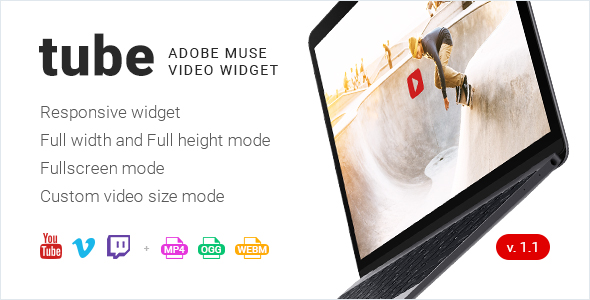 Tube - Responsive Adobe Muse Video Widget - CodeCanyon Item for Sale