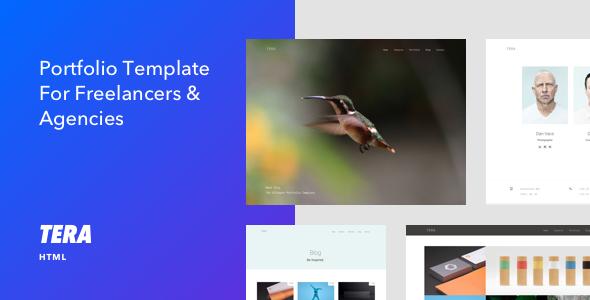 Tera - Responsive HTML5 Portfolio Template - Portfolio Creative