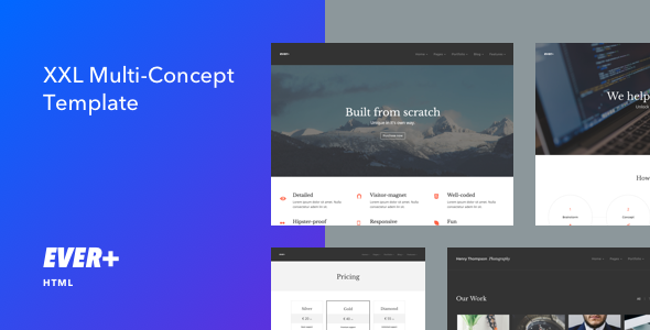 Ever+ | Responsive Multi-purpose HTML Template - Creative Site Templates