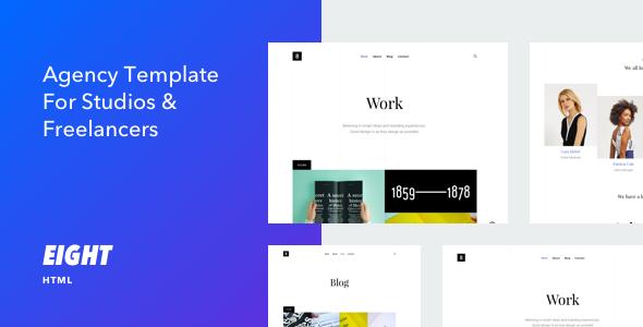Eight - Responsive Portfolio HTML5 Template - Portfolio Creative