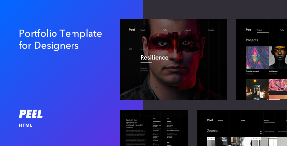 Peel - Portfolio Template For Creatives - Portfolio Creative