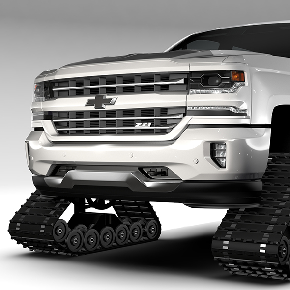 Chevrolet Silverado LTZ Z71 Crawler 2017 - 3DOcean Item for Sale
