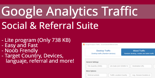 Google Analytics Traffic - Social & Referral Suite - CodeCanyon Item for Sale