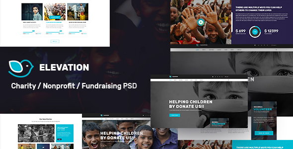 ELEVATION - Charity / Nonprofit / Fundraising PSD Template - Nonprofit PSD Templates