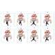 Walking Animation of a Cartoon Angry Character in 8 Frames in Loop - GraphicRiver Item for Sale