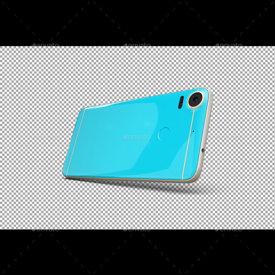 SmartPhone Desire 10 Pro App & Skin Mockup By Zlatkosan1