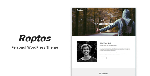 Image of Raptas - Personal Portfolio WordPress Theme