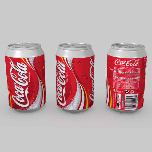 Coca Cola Can 02 - 3DOcean Item for Sale