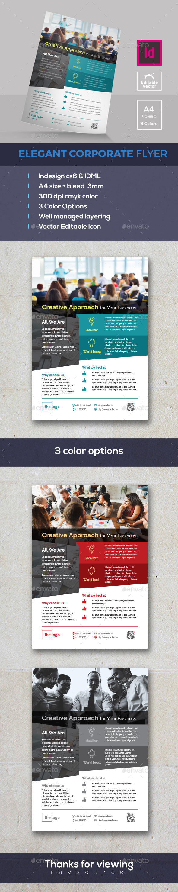 Elegant Indesign Flyer - Corporate Flyers
