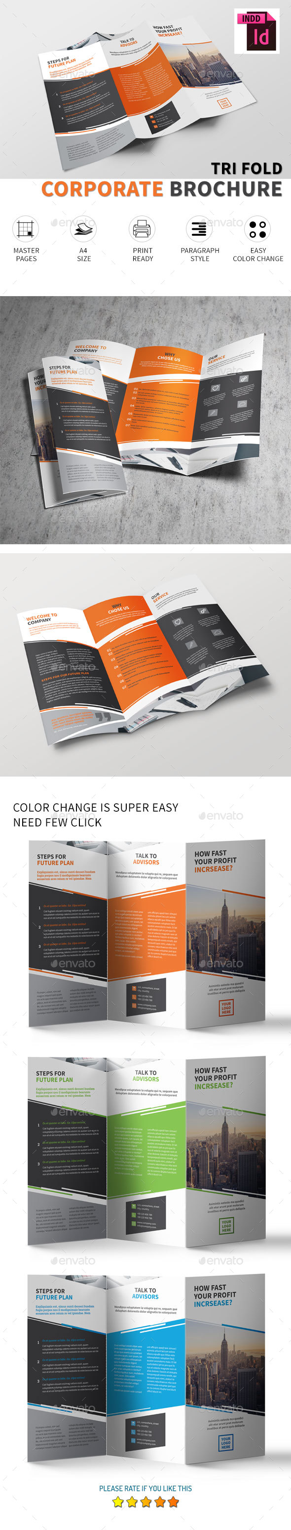 Tri-fold brochure Vol.4 - Corporate Brochures
