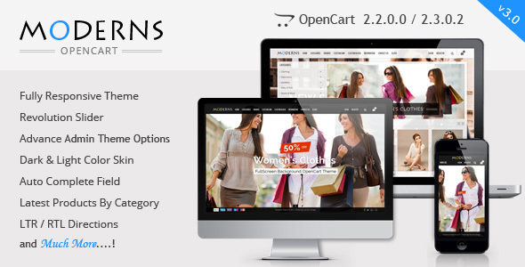Moderns - Fullscreen Background OpenCart Theme - OpenCart eCommerce