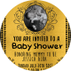 Golden Baby Shower Template Card