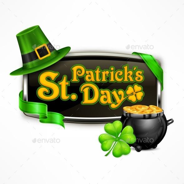 St. Patricks Day Badge - Miscellaneous Seasons/Holidays