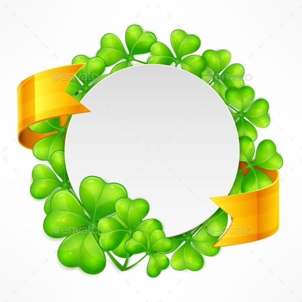St. Patricks Day Round Tamplate - Borders Decorative