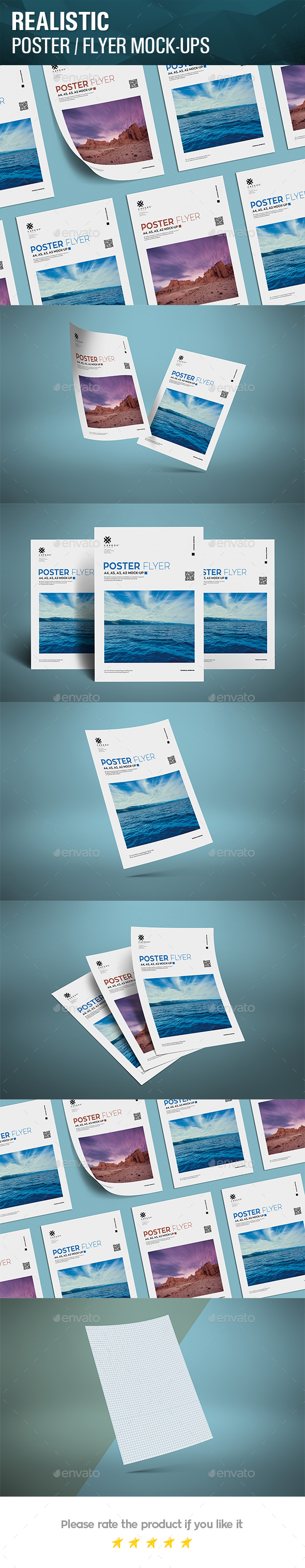Realistic Poster Mockups - Posters Print