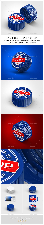 Plastic Bottle Caps Mock-up - Miscellaneous Packaging