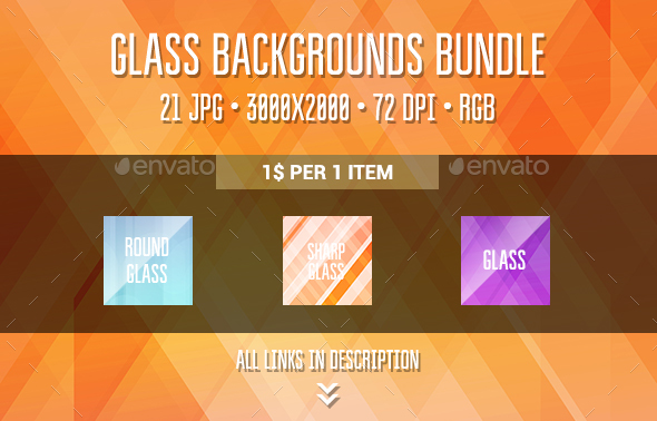 Glass Backgrounds Bundle - Abstract Backgrounds