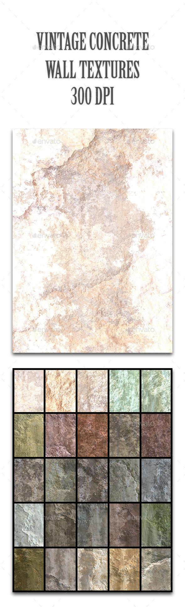 Vintage Concrete Wall Textures - Industrial / Grunge Textures