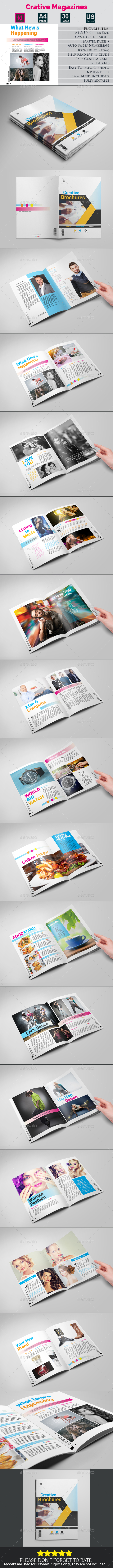 Crative Magazines - Magazines Print Templates